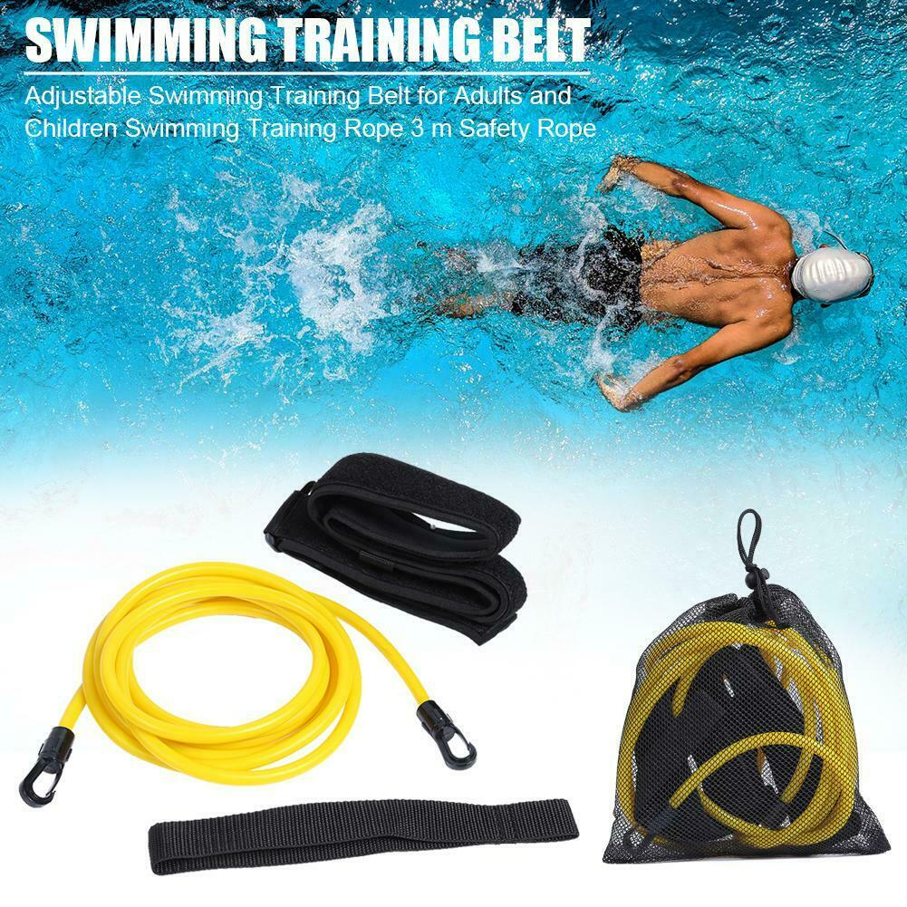 Details about Adjustable Swim Training Resistance Belt 3m Safety Strap Rope  Swimming Pool Tool