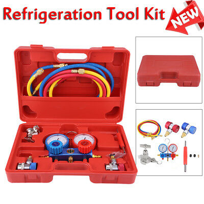 Car Ac Refrigeration Air Conditioning Ac Diagnostic Manifold Gauge Tool Kits