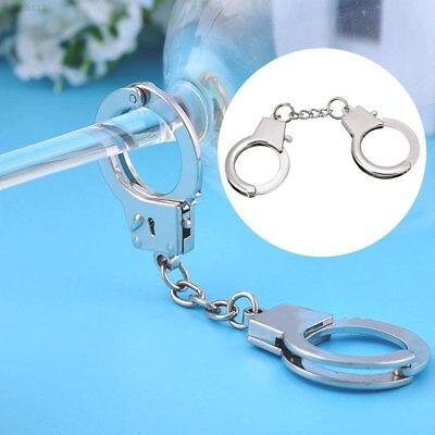 8224 Schlüsselanhänger KeyChain Handschellen Metall Silber Gadget
