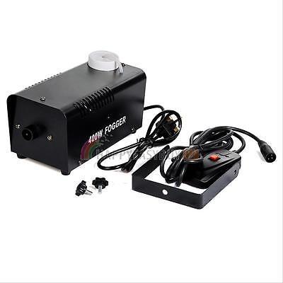 400W Smoke Mist Fog Effect Machine Mounted Remote for Disco Stage Party Club DJ