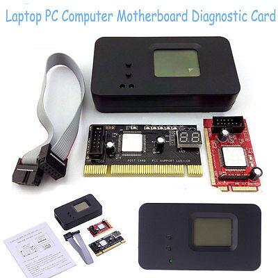 3in1 Sintech Laptop Mini PCI-E PC PCI Diagnostic Test Tester Debug Post Card+LPC