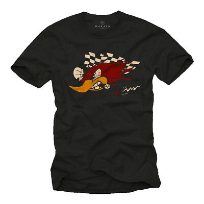 Custom Motorrad & Auto Tuning Herren T-Shirt mit Woody Racing Winner Team ()