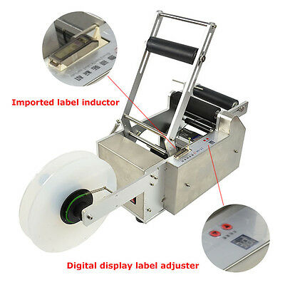 Semi-automatic Lt-50s Round Bottle Labeling Machine Labeler Machine Us Stock