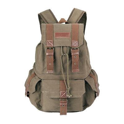 Koolertron Canvas DSLR Camera Bag Case Shoulder Bag Travel Backpack For Canon