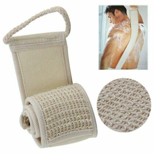 Exfoliating Bath Scrubber Shower Back Strap Loofah Spa Body Skin Brush Sponge US Bath & Body