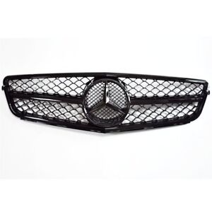 AMG Style New Black Grille Grill For Mercedes W204 08-14 C230 C280 C300 C350