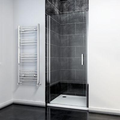 SUNNY SHOWER Semi-Frameless Pivot Swinging Glass Door 34 x 72 in. Chrome Finish  72 Shower Door