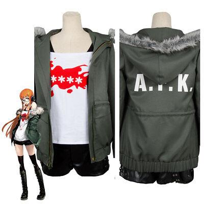 Persona 5 Futaba Sakura Cosplay Costume Star Key Shirt A.F.K. Jacket Wig Boots - Cosplay Booties
