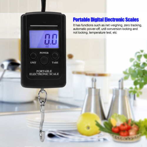 40kg Portable Luggage Scale Electronic Digital Libra Hanging Balanca Digital New