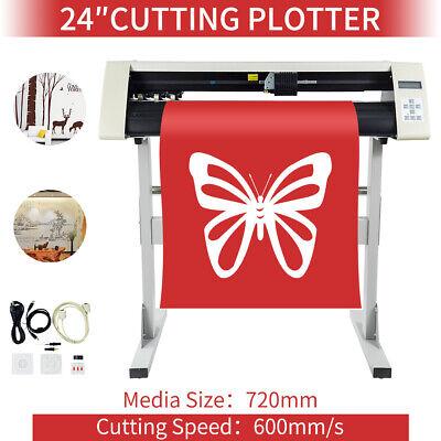 24 Vinyl Sign Sticker Cutting Plotter Cutter Plotter Cutting Machine W Stand