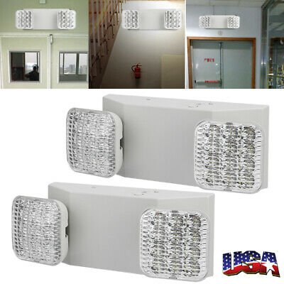 Led Emergency Exit Lightadjusable Dual Head With Battery Back Up Ultra Bright