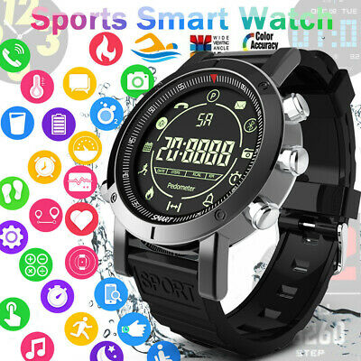 Waterproof Women Men Bluetooth Smart Watch Sport Fitness Tra