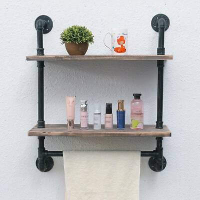 Wall Floating Shelf Industrial Style Display Shelves Kitchen Bathroom Rack