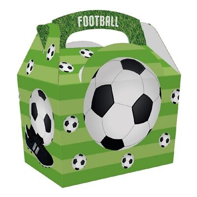 12 Boys Football cup Food Boxes - Picnic Meal Bag ~ Sports Birthday Party Box - Boys Food