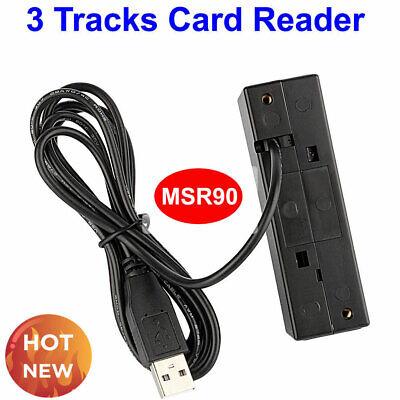Credit Card Reader Machine Portable Mini Usb Magnetic Stripe Swiper Mag Msr 3 Tk