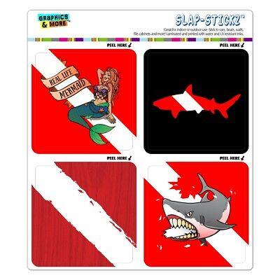 Diver Diving Flag Mermaid Shark Craft Scrapbook Planner Calendar Sticker - Shark Craft