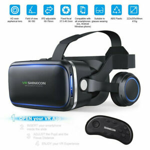 360° VR Headset Goggles 3D Glasses Virtual Reality Headset for Mobile Phone Gift
