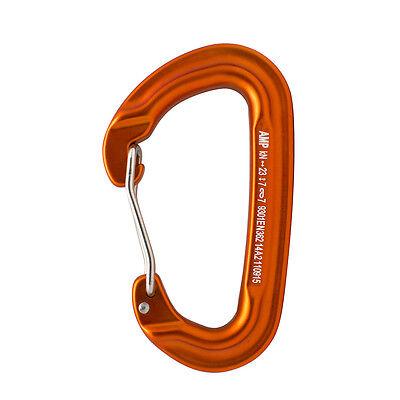 Fusion Climb Contigua Wire Gate Modified D Shape Carabiner Orange