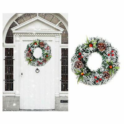 16'' Christmas Wreath Hanging Garland for Xmas Party Ornament Door Wall Decor US ()