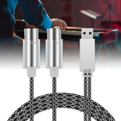 High Quality 5-PIN MIDI to USB Cable Electronic Drum Piano Music Editing...