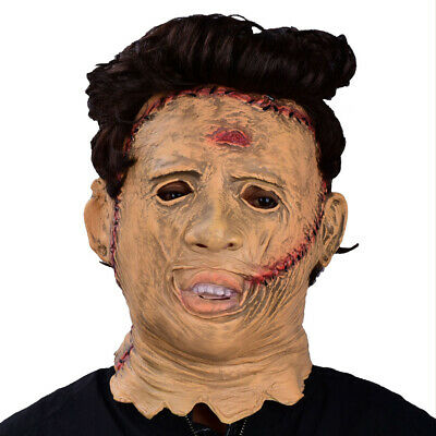 Texas Chainsaw Massacre Halloween Cosplay Scary Movie Latex Leatherface Mask - Texas Halloween