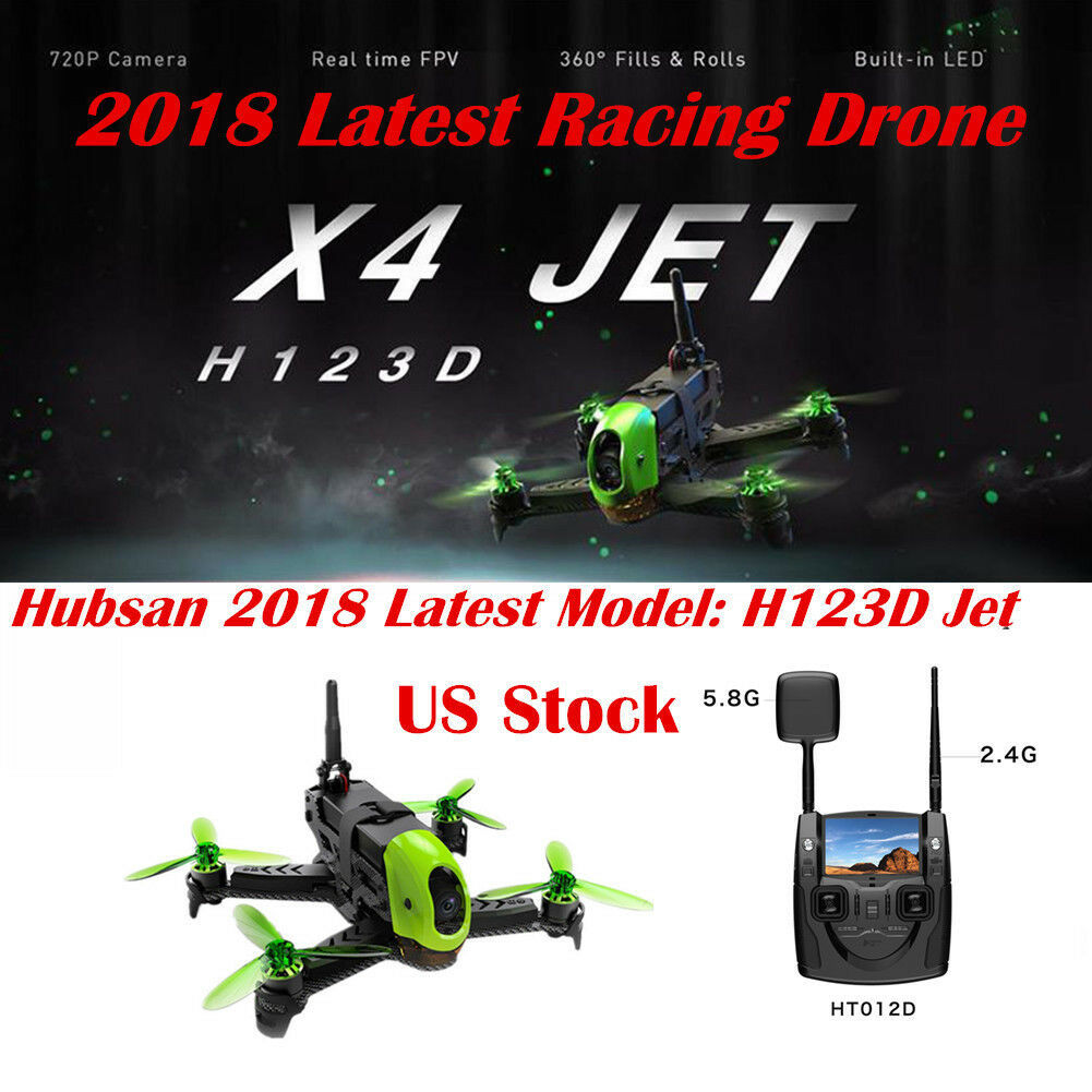 2018 Hubsan H123D X4 Jet Storm Racing Drone Brushless FPV  720P RC Quadcopter US