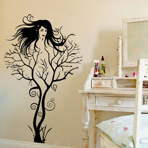 Sexy Girl Tree Wall Sticker PVC Decal Art Mural Home