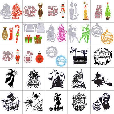 Christmas Halloween Metal Cutting Dies Stencil Scrapbook Card Embossing Craft