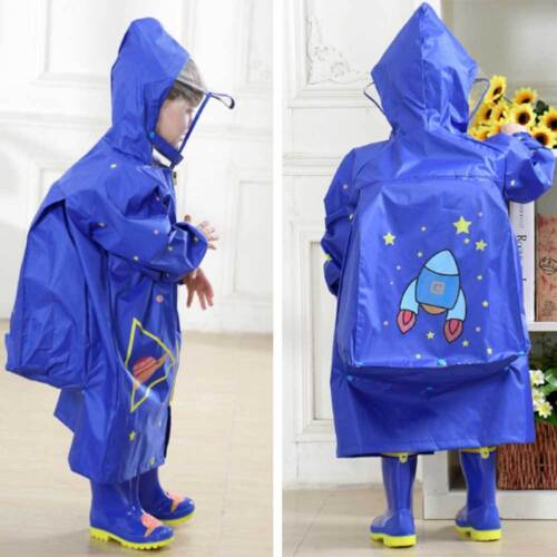 Children Rain Coat Printing Raincover Hooded Poncho Raincoat