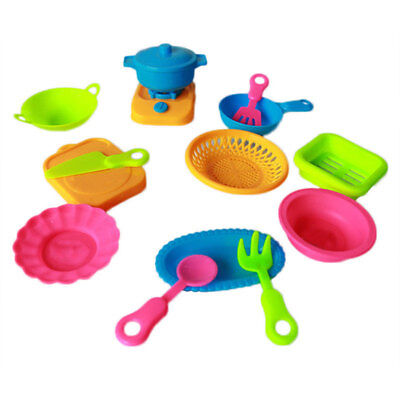 Childs Tableware Set Toys (15Pcs/Set Simulation Kitchen Tableware Children Cooking Pretend Play Toy Newly )