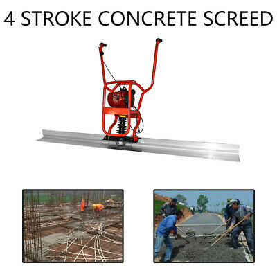 Hot 37.7cc 4 Stroke Gas Concrete Wet Screed Power Screed Cement 6.56ft Board