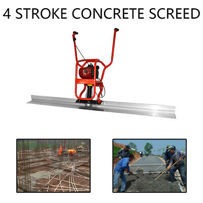 New 37.7cc 4 Stroke Gas Concrete Wet Screed Power Screed Cement 6.56ft Board