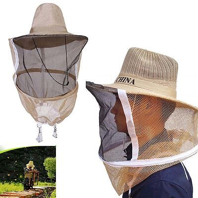 1 Beekeeping Cowboy Hat Mosquito Bee Net Veil Face Head Protector Cap Portable