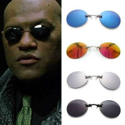 Matrix Morpheus Style vintage Round Rimless Sunglasses Men Brand glasses sun (Sunglasses For Men Brands)