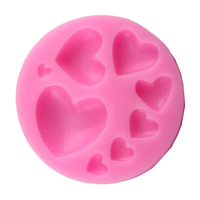 Heart Mould - 8 Heart Shape Mould Durable Silicone Baking Mold Side Decoration Tool