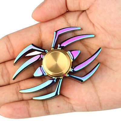 Rainbow Edc Spider Crab Spinner Finger Fidget Gyro Focus Toy Adhd Kid Gift Best