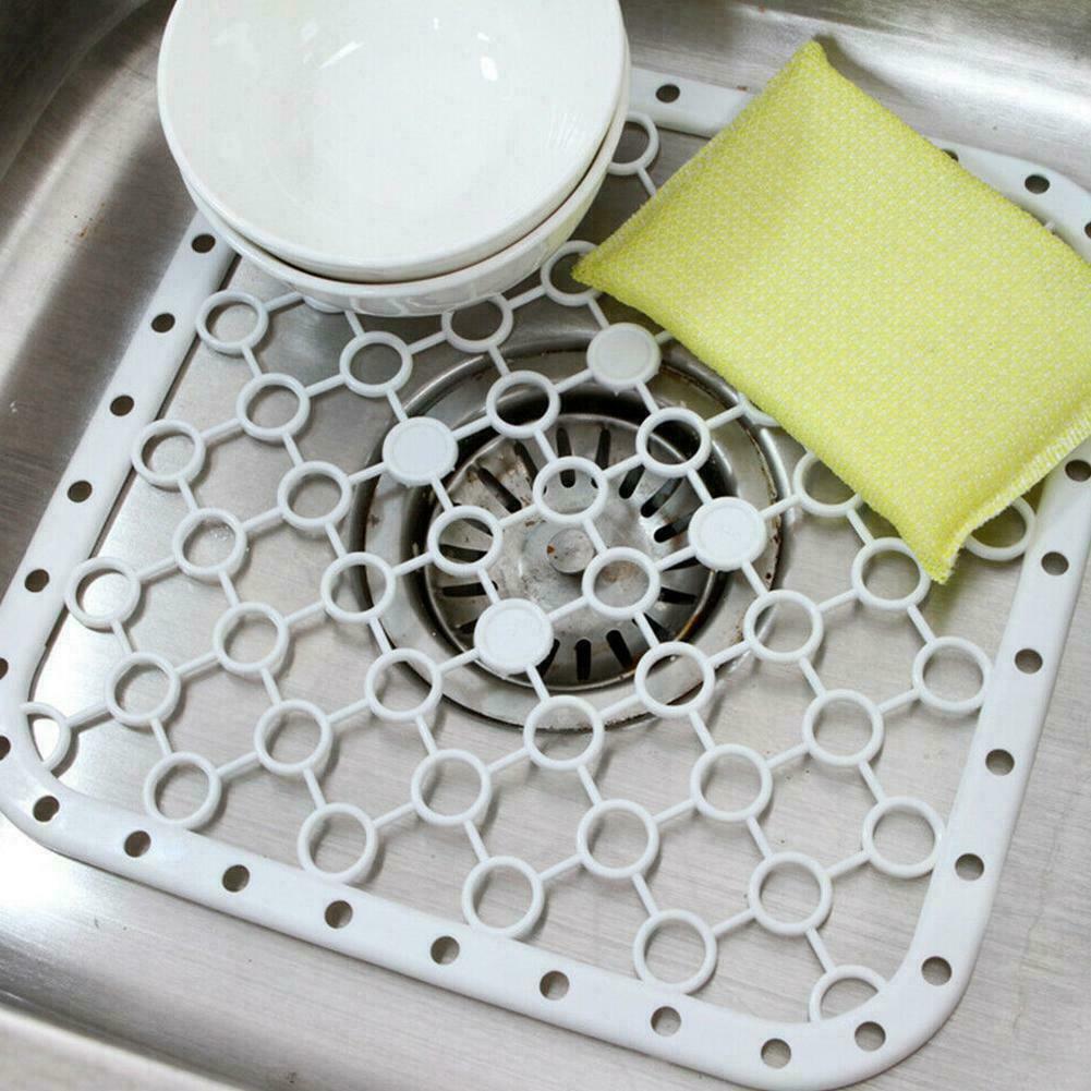Sink Drain Pad Mat Kitchen Sink Protector Mat Kitchen Gadgets M8L5