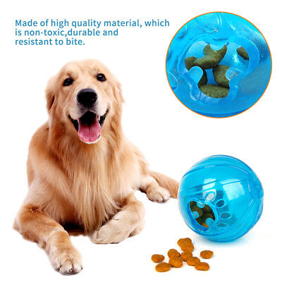 Plastic Dog Puppy Cat Food Feeder Training Bite Resistant Ball Toy Pet Supplies