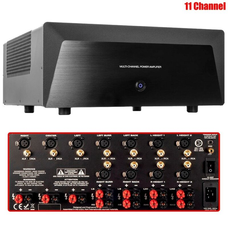 1400W 11 Channel Power Amplifier Stereo Audio Home Theater DJ Disco Party PA Amp