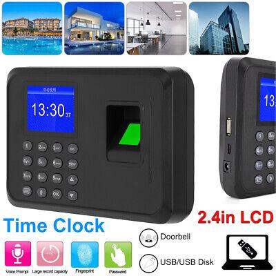 2.4 Lcd Biometric Fingerprint Time Clock Password Attendance Machine Recorder