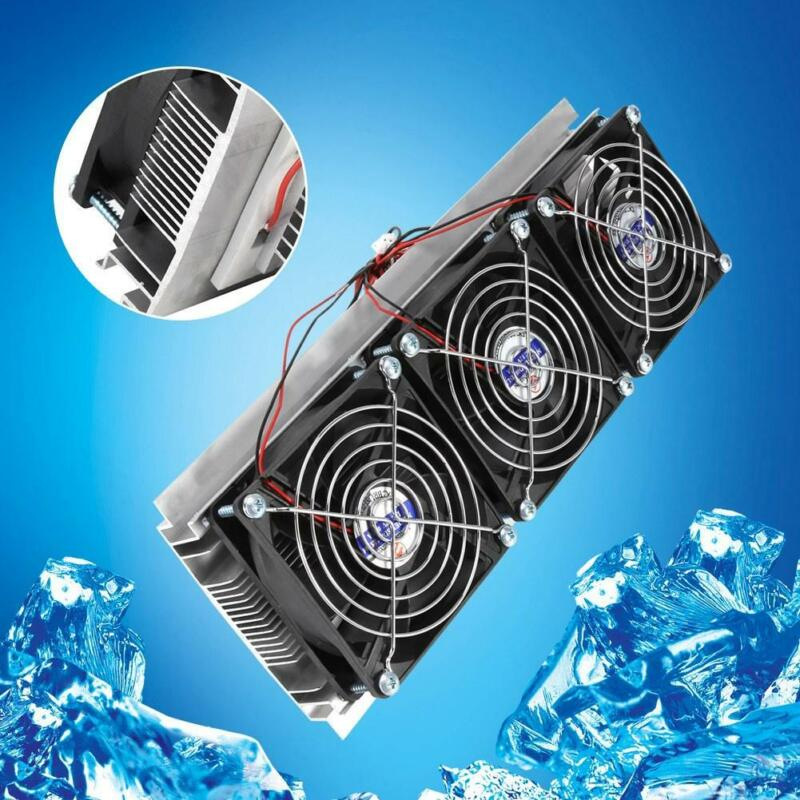 Semiconductor Refrigeration Thermoelectric Peltier DIY Air Cooling Device +Power