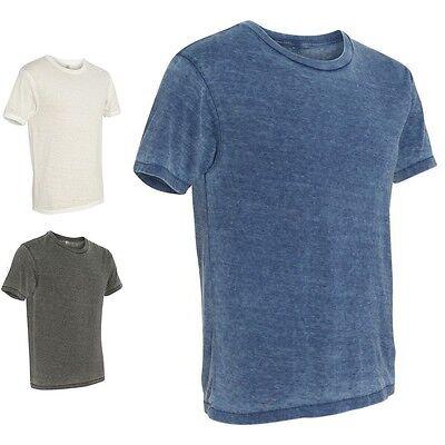 Alternative Apparel   Mens Vintage Billy  Burnout T Shirt  Crew Neck  Tee  2631