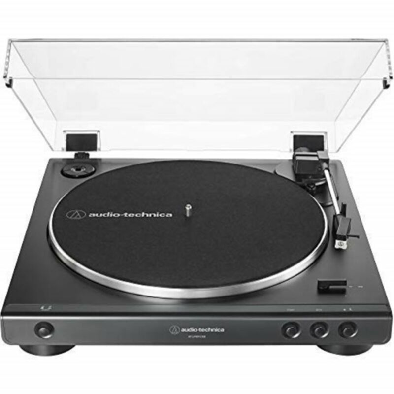 Audio Technica Fully Automatic (Analog & USB) Belt-Drive Stereo Turntable, Black