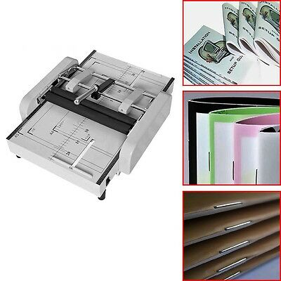 220v Manual Booklet Stapler New Booklet Binding Folding Machine A3 Paper A
