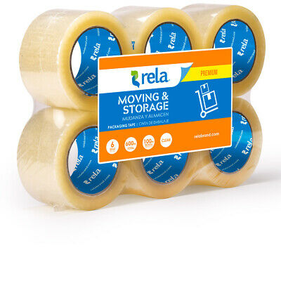 Rela Moving Storage Premium Clear Packaging Tape 3 X 110 Yards 6-pack