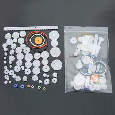 60pcs Type Plastic Shaft Single Double Reduction Crown Worm Gears Diy Robot New