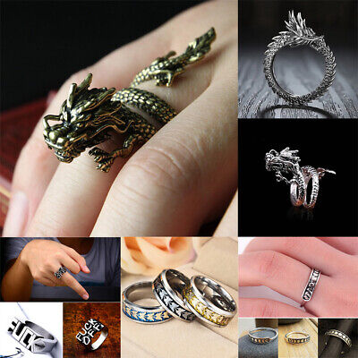 Alloy Silver Dragon Claw Ring Men Domineering Personality Jewelry Opening Rings - Dragon Ring Jewelry