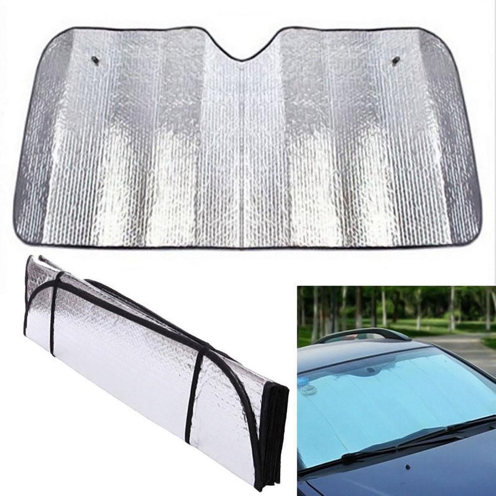 Parasole Metallico Per Auto Con Ventose Protegge Cruscotto Sole Caldo 130x60 hsb