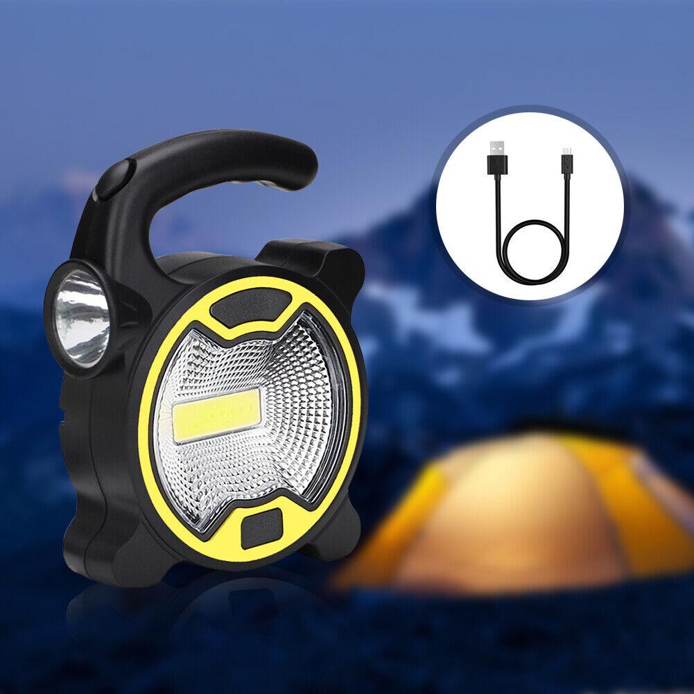 Solar COB LED High Power Work Light Portable Waterproof Gard