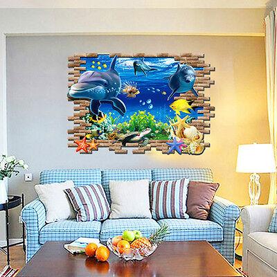Wandtattoo Wandsticker Sticker Kinderzimmer Meer Unterwasserwelt Delphin  Groß XL Gebraucht Kaufen Deutschneudorf